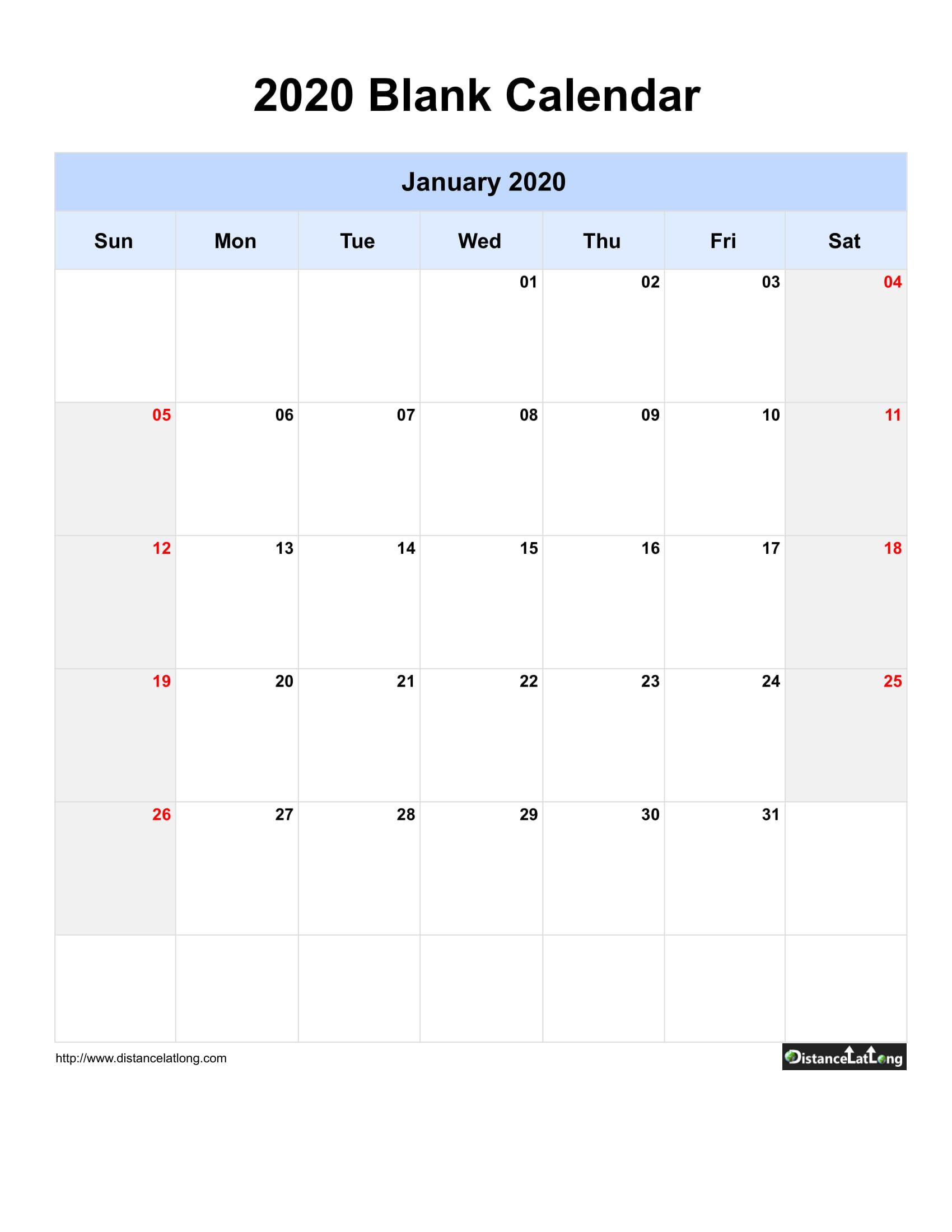 2020 Yearly Calendar Free Printable Pdf Words And Jpg