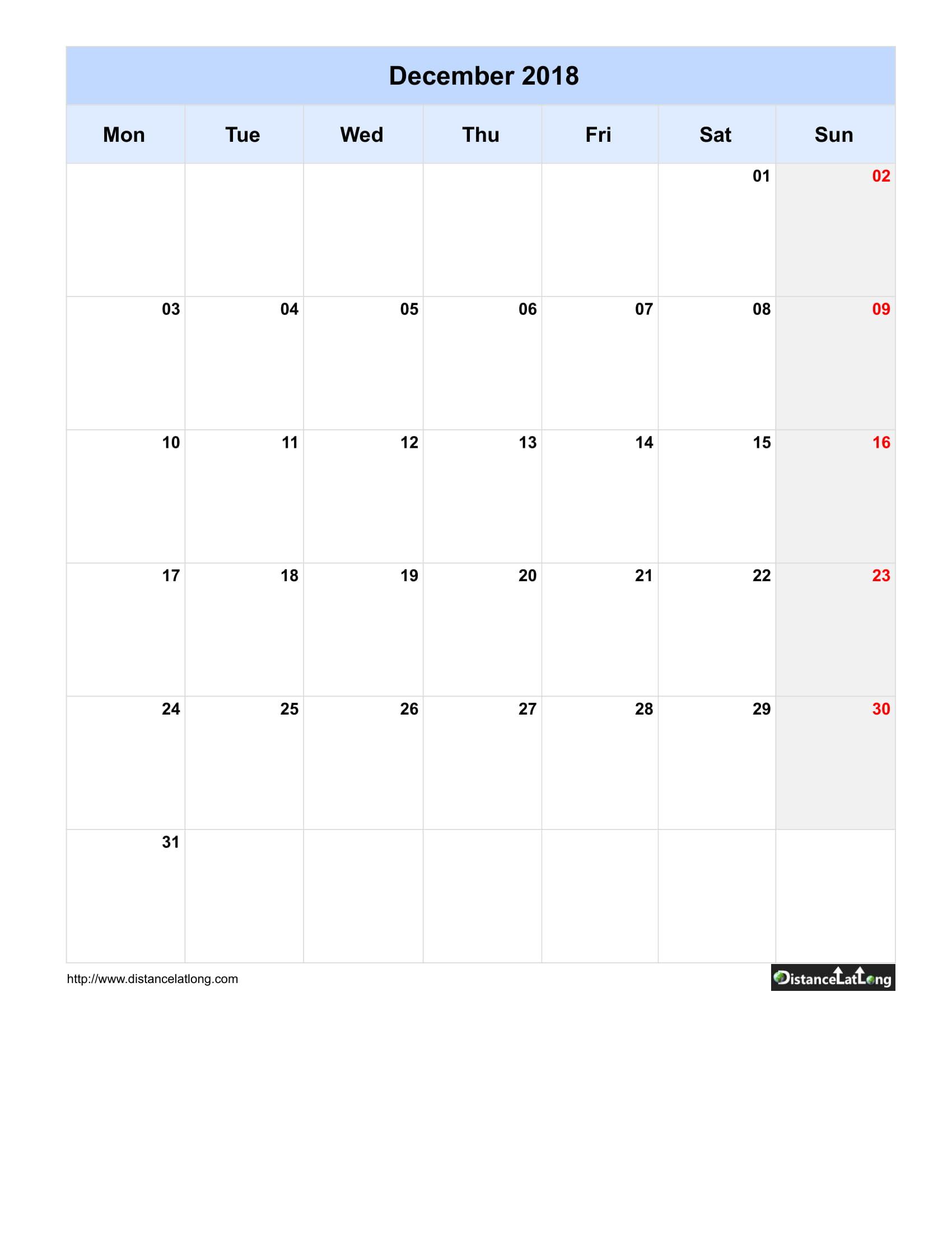 2019 Blank Calendar Template from www.distancelatlong.com