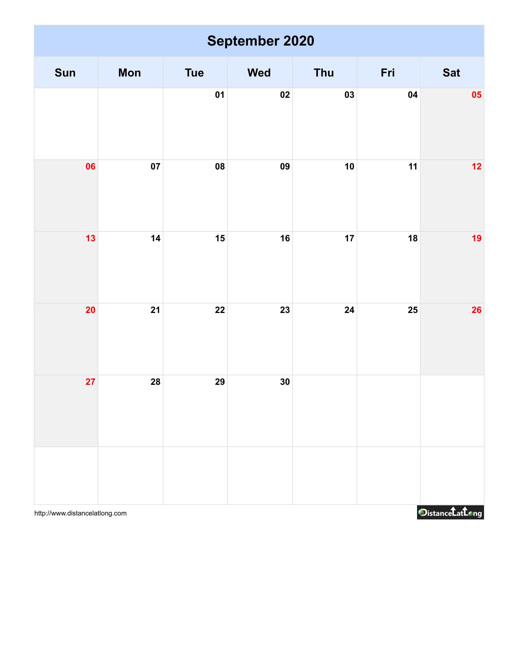 2020 Blank Calendar Blank Portrait Orientation Free Printable Templates Free Download Distancelatlong Com