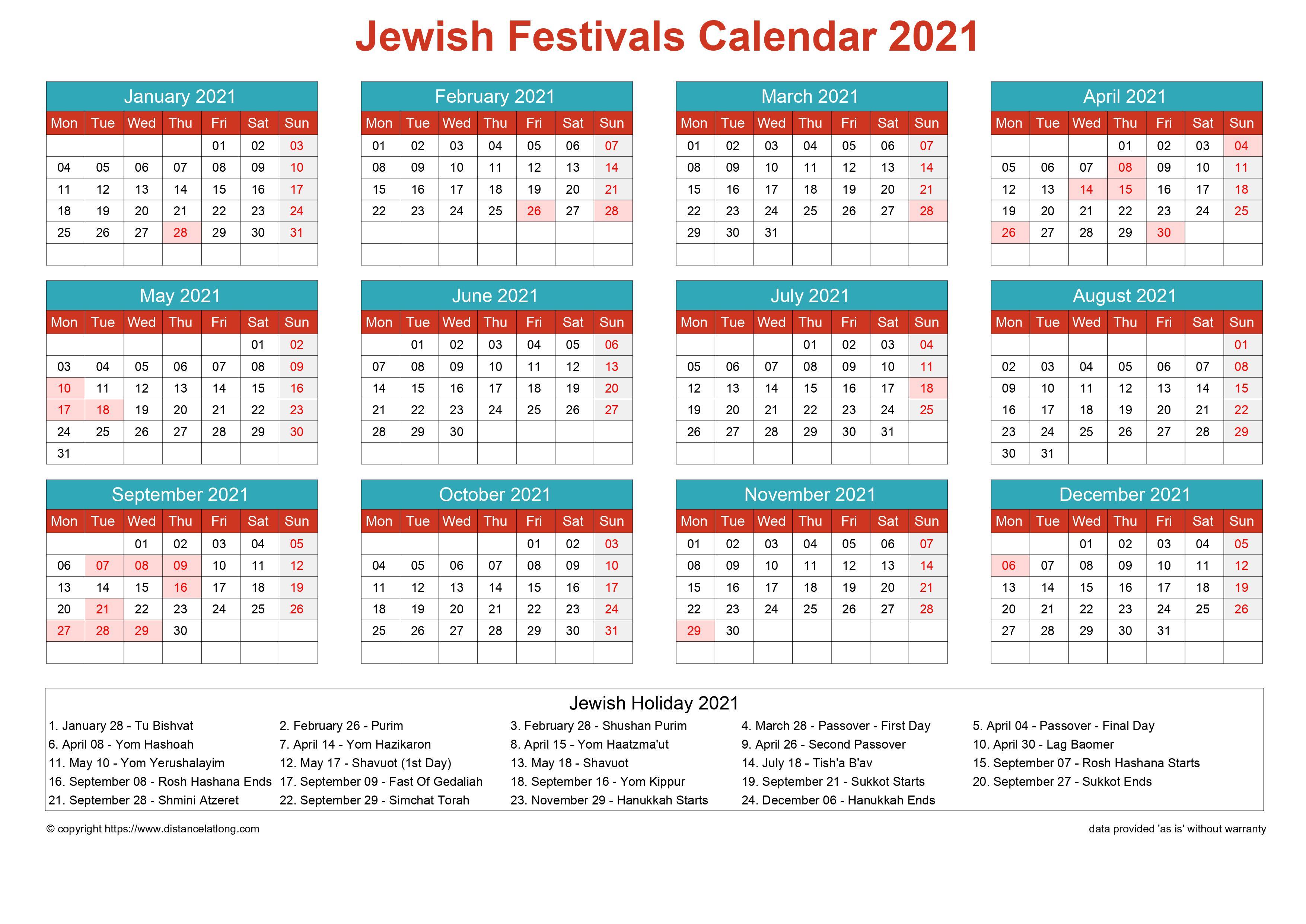 Jewish Holidays Calendar 2022.Jewish Holiday Calendar 2021 Jpg Templates Distancelatlong Com1