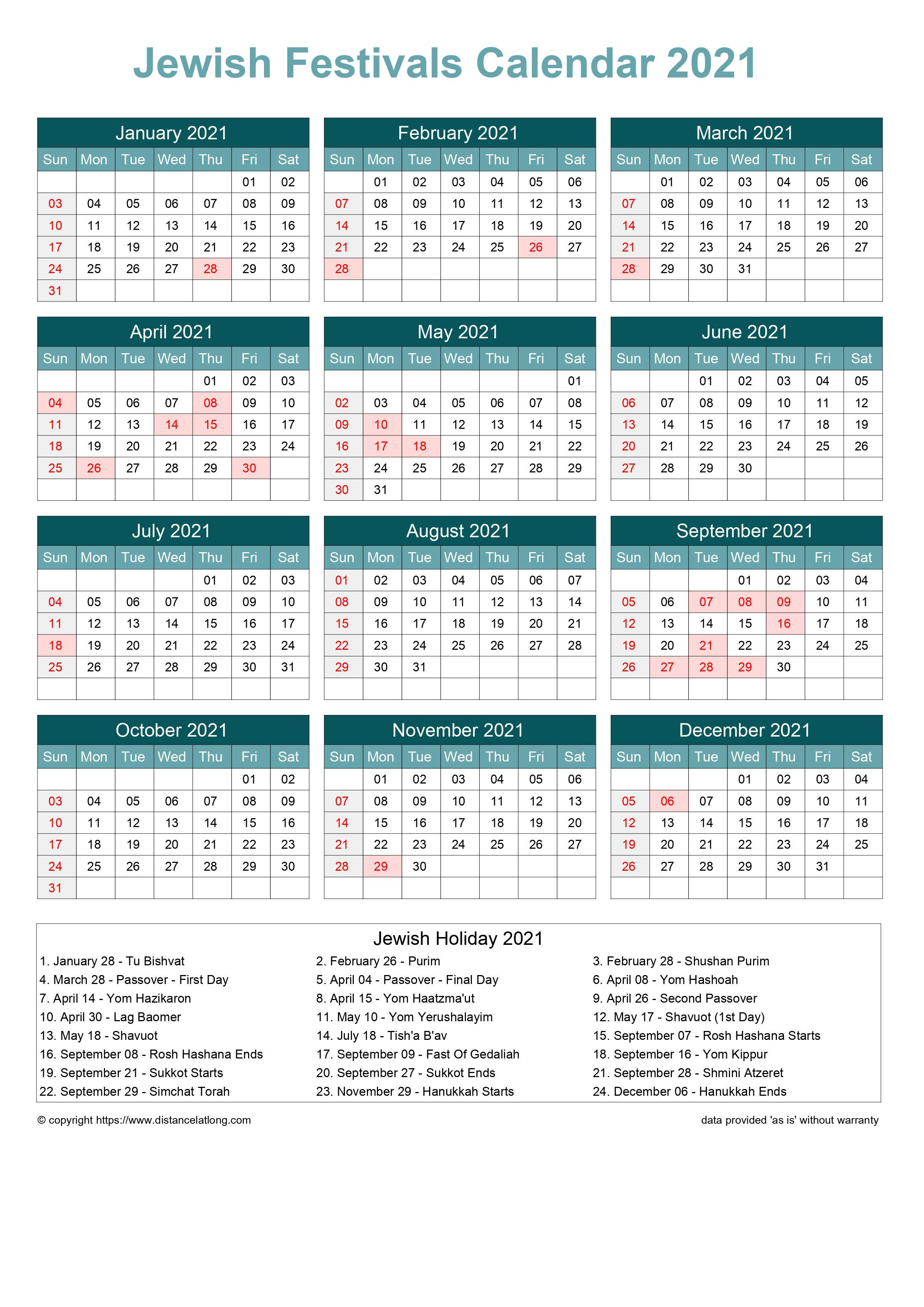 2022 Jewish Holiday Calendar.Jewish Holiday Calendar 2021 Jpg Templates Distancelatlong Com1