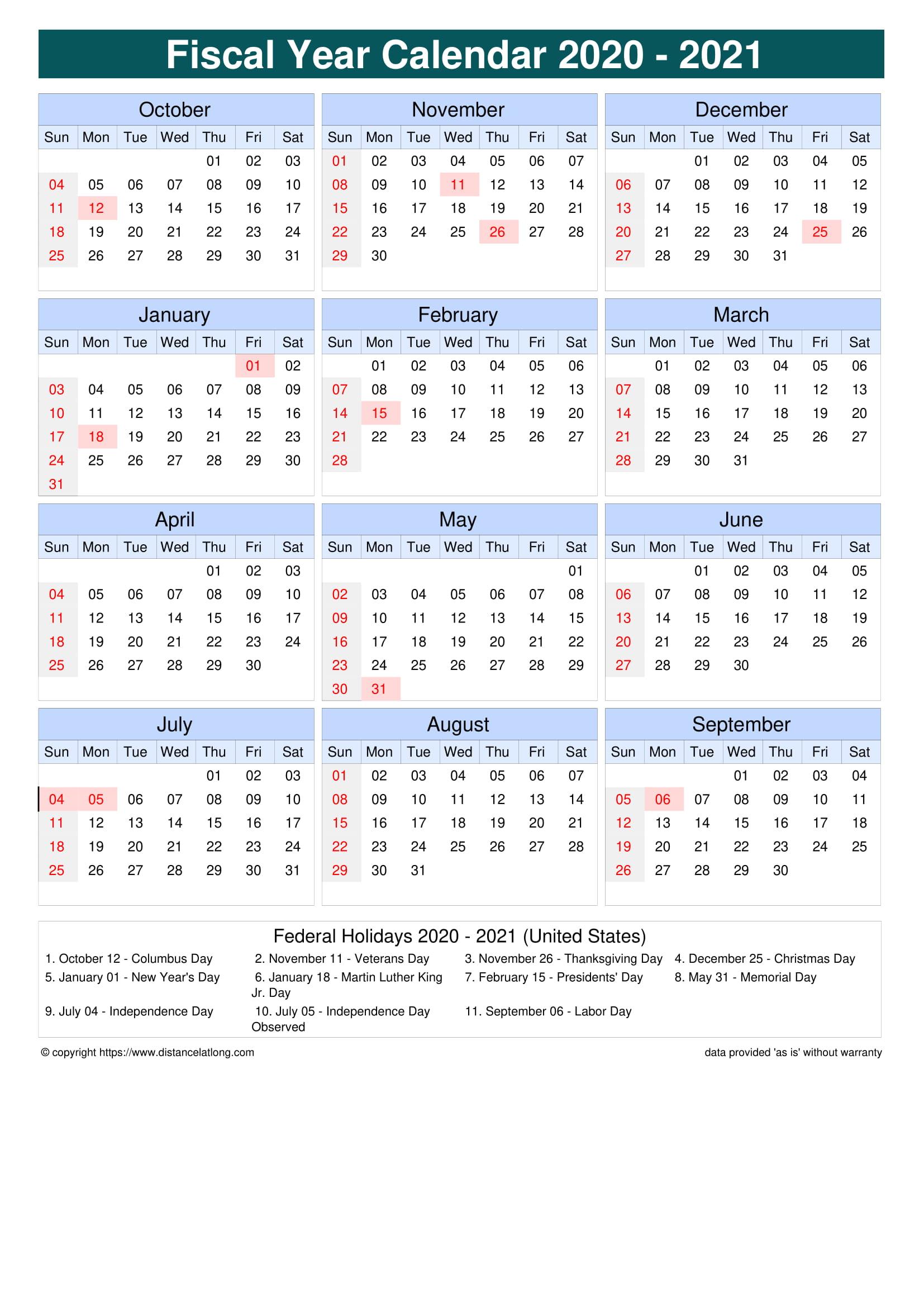 Calendar July 2020 To June 2021 | Calendar 2021