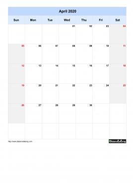 2020 Yearly Calendar Free Printable PDF, Words and JPG