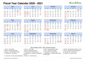 Calendrier Fiscal 2021 | Calendrier Lunaire