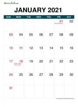 Free Downloadable 2021 Word Calendar / 2021 Printable ...